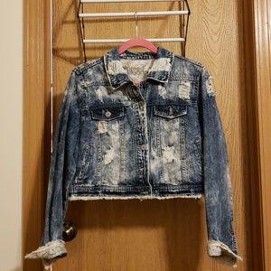 Destroyed Denim Crop Jacket